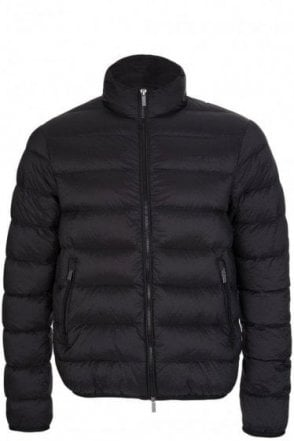 Armani Jeans Quilted Bomber Jacket Black