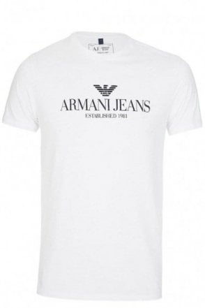 Armani Jeans Chest Logo T-Shirt White