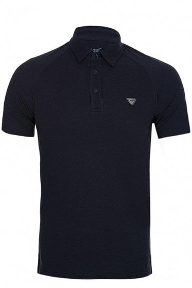 Armani Jeans Chest Logo Polo Navy