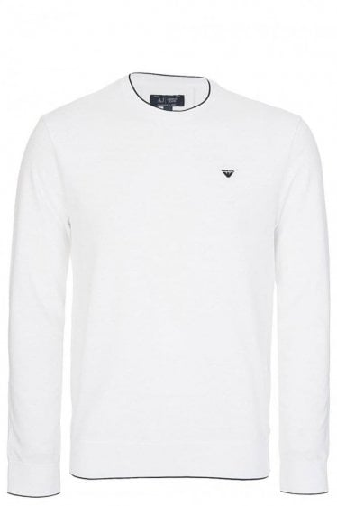 Armani Jeans Long Sleeved Top White