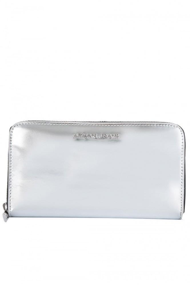 Armani Jeans Womens Silver Wallet
