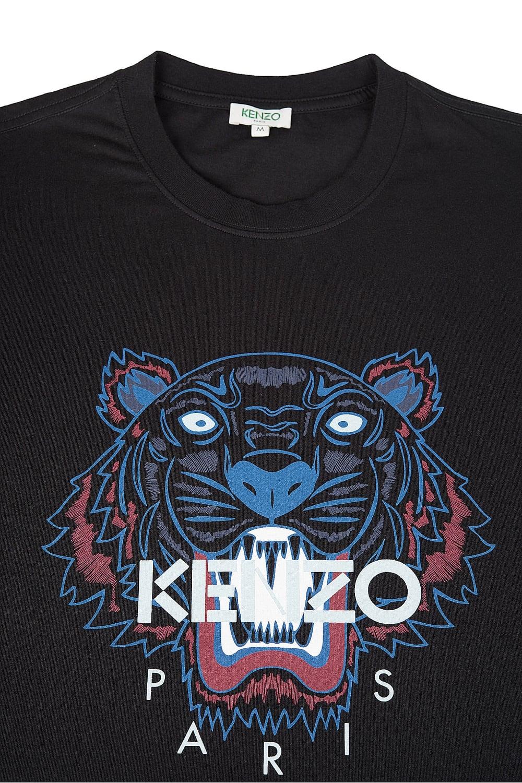kenzo kenzo tiger print tshirt black kenzo from circle fashion uk. Black Bedroom Furniture Sets. Home Design Ideas