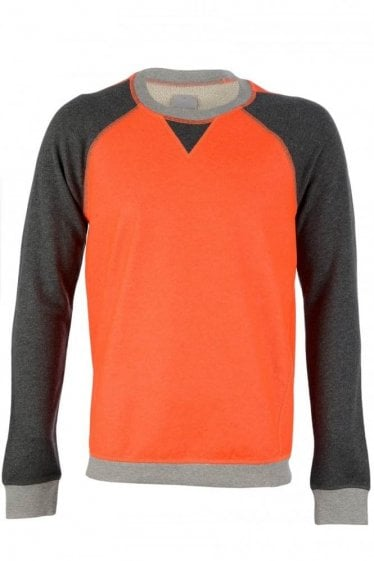 Adidas SLVR Orange Crew Neck Sweatshirt