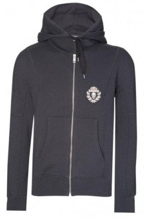 Alexander McQueen Badge Logo Hooded Top Black