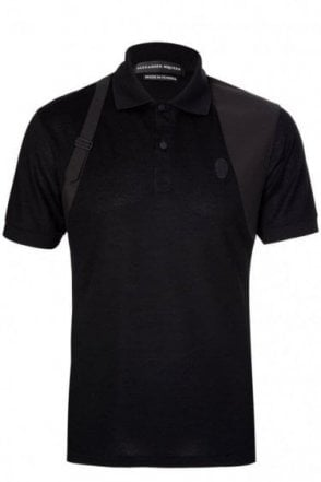 Alexander McQueen Harness Polo Black
