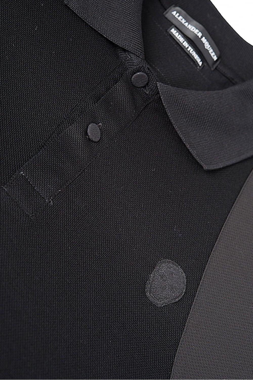 d6e78eae ALEXANDER MCQUEEN Alexander McQueen Harness Polo Black - Polos from ...