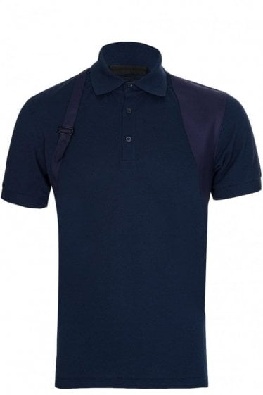 Alexander McQueen Harness Polo Navy