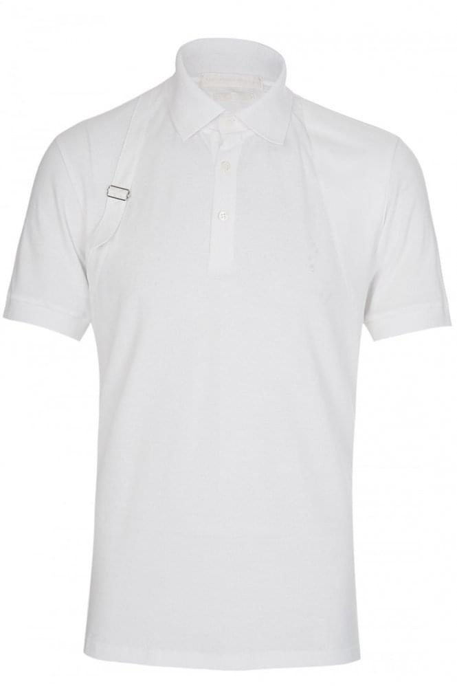 ALEXANDER MCQUEEN Harness Polo White