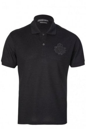 Alexander McQueen Military Badge Logo Polo Black