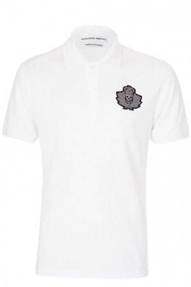 Alexander McQueen Military Badge Polo White