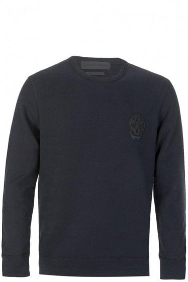 Alexander McQueen Skull Patch Sweatshirt Black