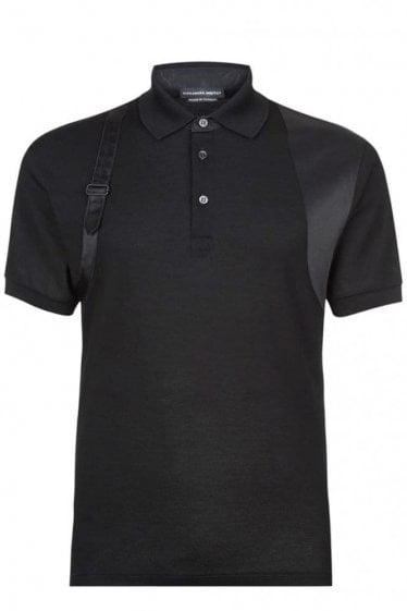 Alexander McQueen Tonal Harness Polo Black