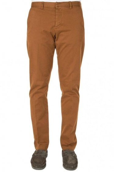AMI Cotton Gabardine Chinos Cognac