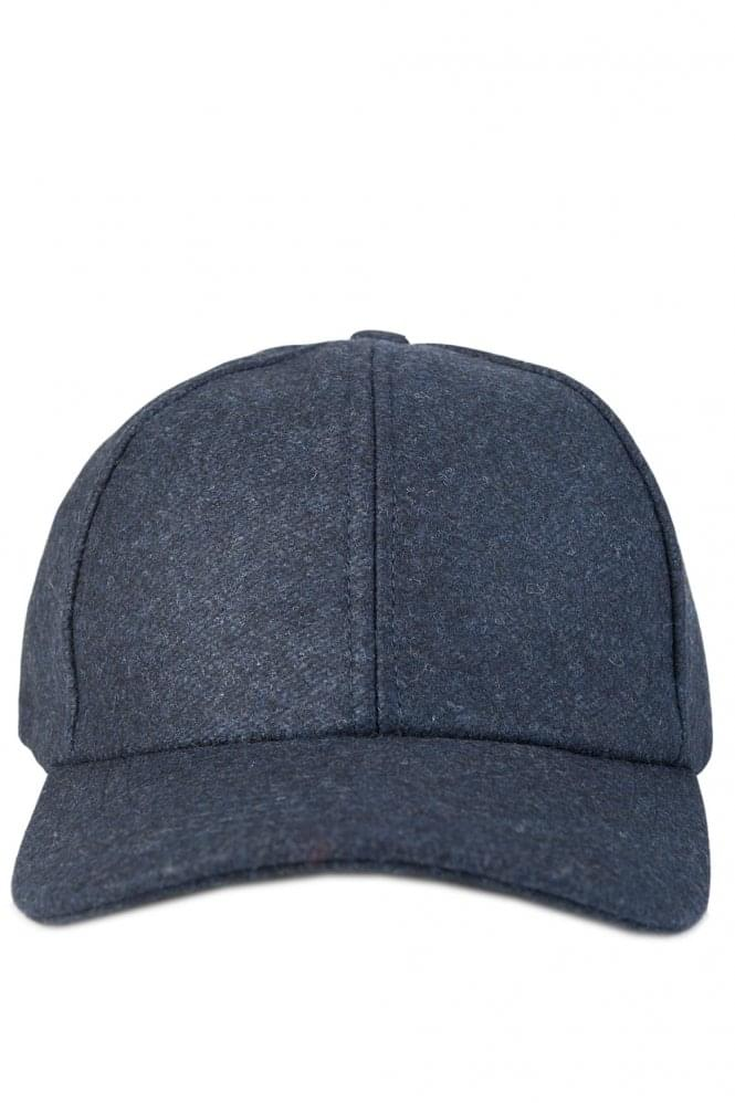 AMI Wool Baseball Cap Navy