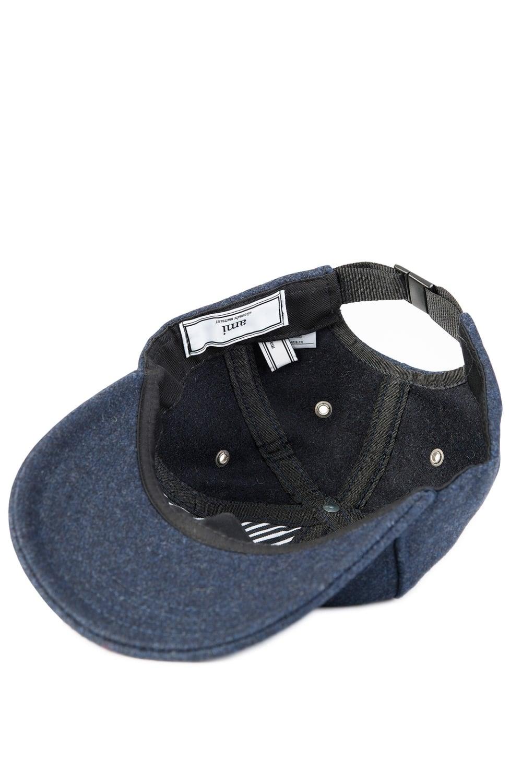 Ami Wool Baseball Cap Navy a69b82f97ce