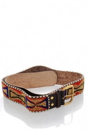 APACHE BEADED LTHR/GOLD