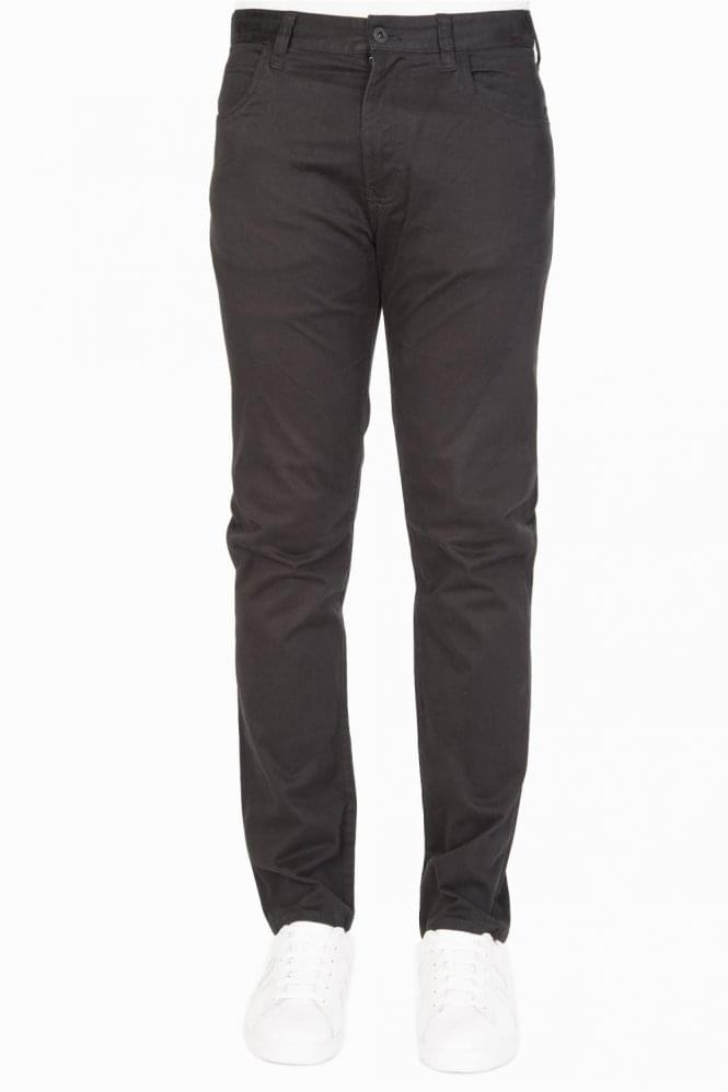 ARMANI 5 Pocket Tapered Jeans Black