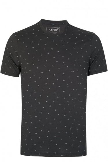 Armani All Over Logo T-Shirt Black