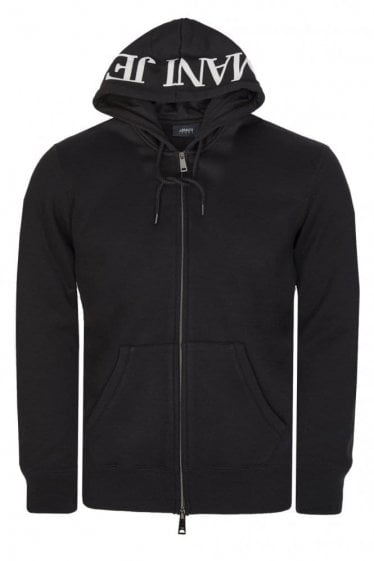 Armani Combination Item Zip Top Black