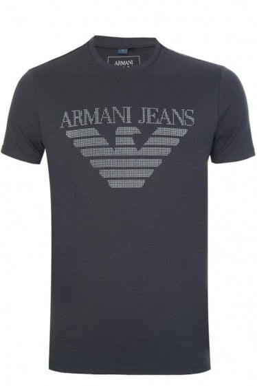 Armani Eagle Print T-Shirt Black