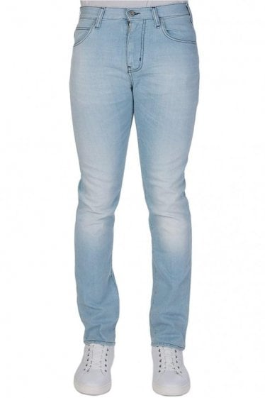 Armani J45 Slim Fit Light Wash Jeans