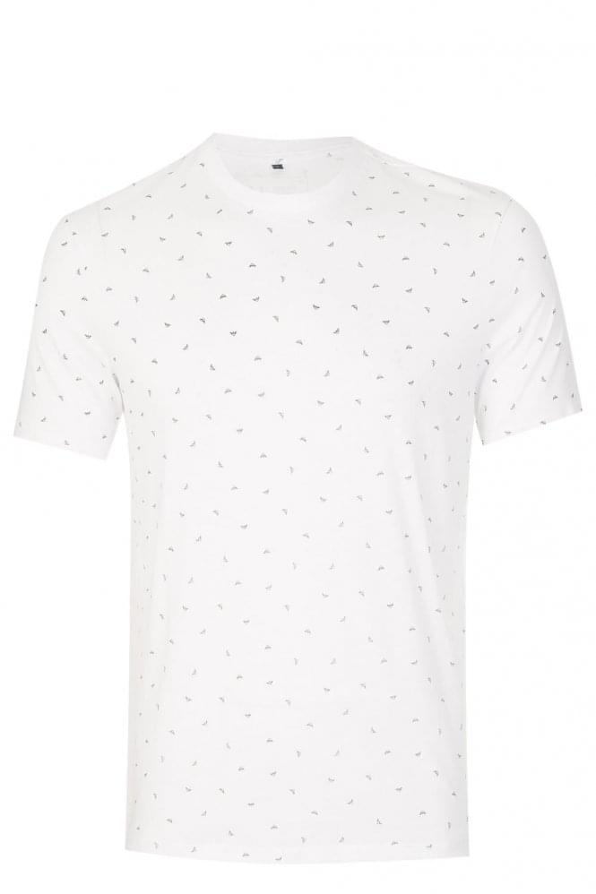 ARMANI Jeans All Over Logo T-Shirt White