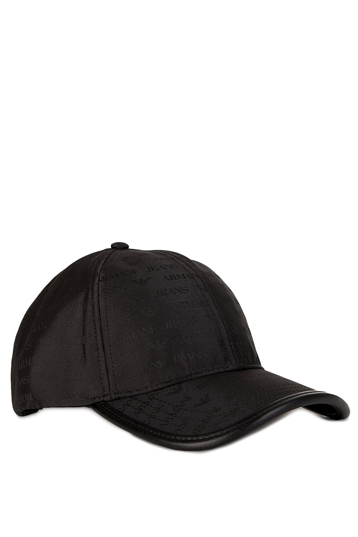 Armani Jeans All Over Print Baseball Cap Black ecac900aff88