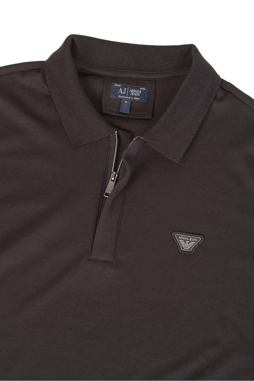 Armani Jeans Badge Logo Polo Black 0f5240390