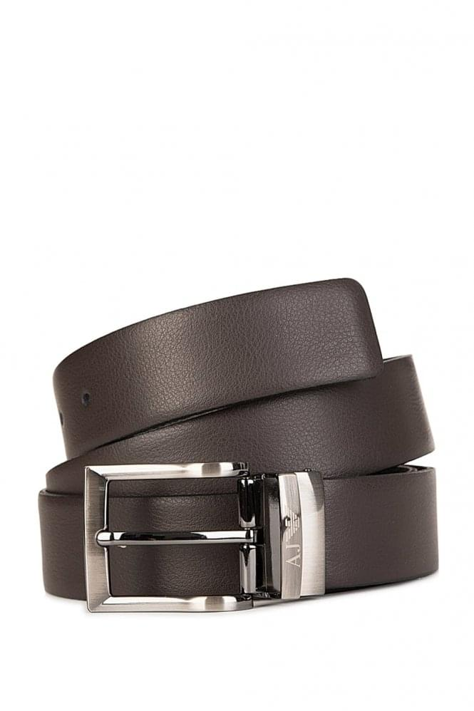ARMANI Jeans Buckle Belt Brown