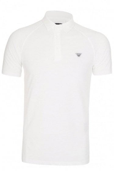 Armani Jeans Chest Logo Polo White