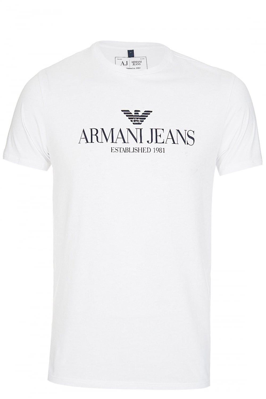 de015825 Armani Jeans Logo T Shirt White - raveitsafe