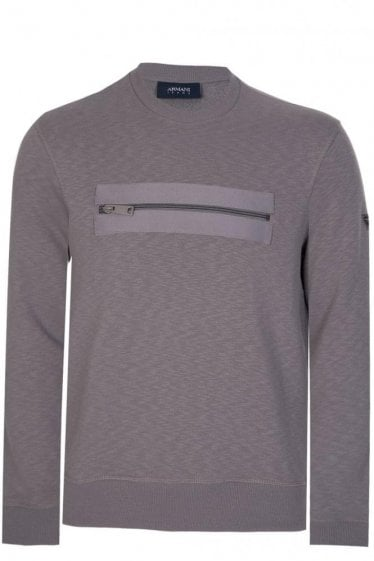 Armani Jeans Chest Zip Pocket Sweatshirt