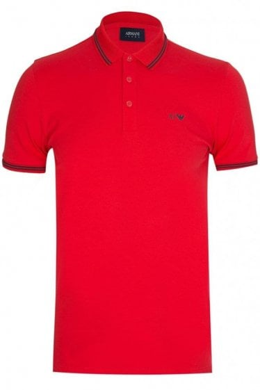 Armani Jeans Classic Logo Polo Red