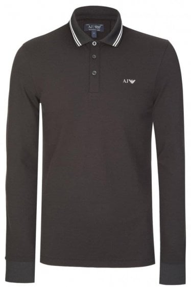 Armani Jeans Classic Long Sleeve Polo Black