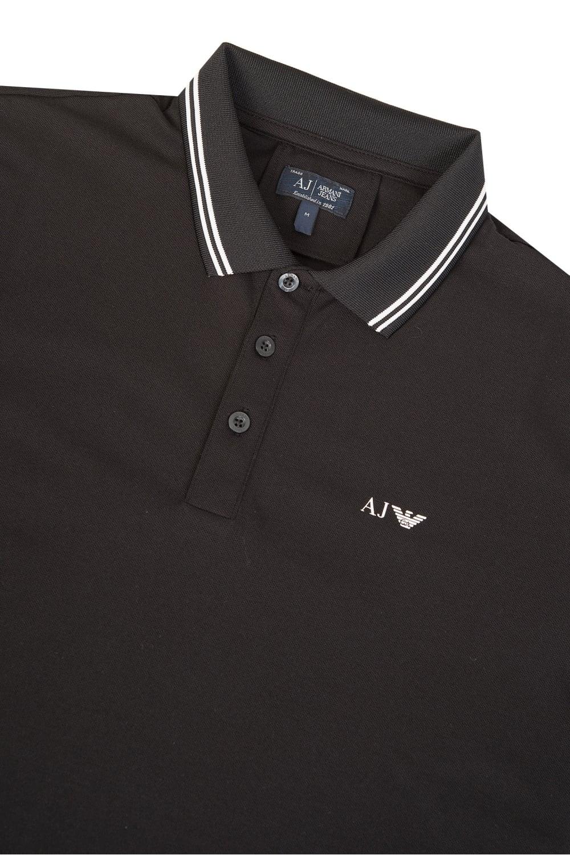 Armani Jeans Classic Long Sleeve Polo Black 35a9535fb
