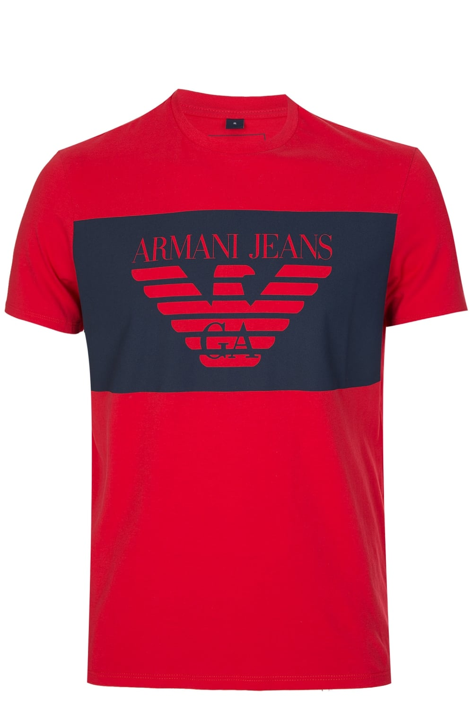 74265123e Jeans Colour Block Logo T-Shirt Red