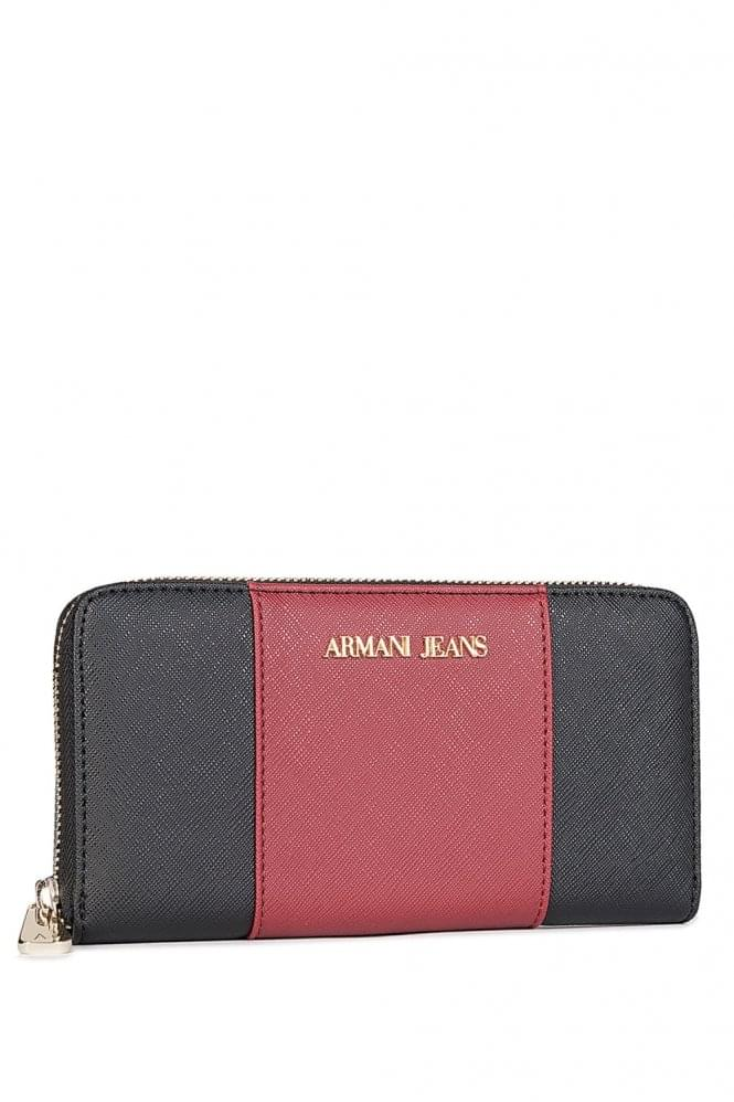 ARMANI Jeans Colour Block Purse Navy