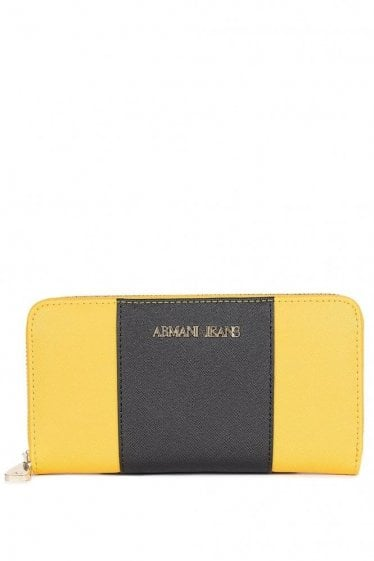 Armani Jeans Colour Block Purse Yellow