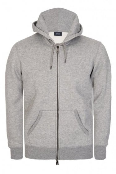 Armani Jeans Combination Item Hooded Sweatshirt Grey