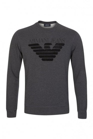 Armani Jeans Combination Item Sweatshirt Grey