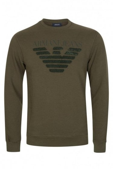 Armani Jeans Combination Item Sweatshirt Khaki