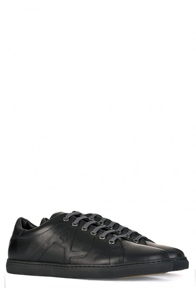 ARMANI Jeans Contrast Lace Sneakers Black