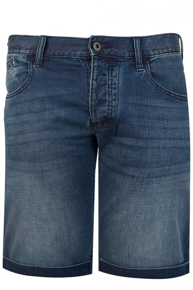 ARMANI Jeans Denim Straight Legged Shorts