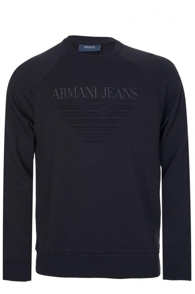 Armani Jeans Felpa Eagle Logo Sweatshirt
