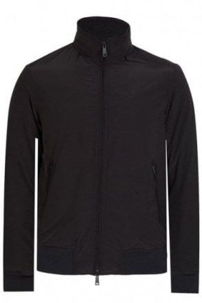 Armani Jeans Hooded Blouson Jacket Black