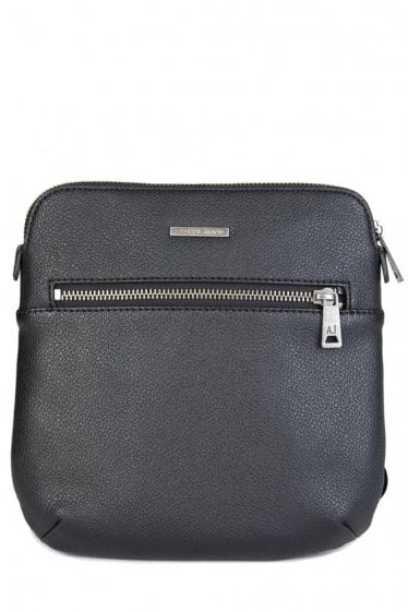 Armani Jeans Leather Cross Body Bag