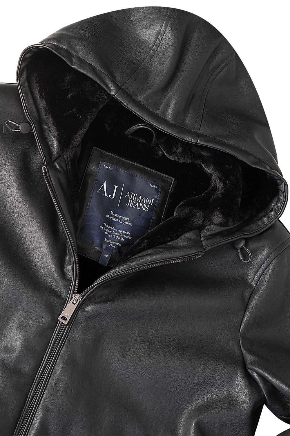 armani jeans leather jacket. Black Bedroom Furniture Sets. Home Design Ideas