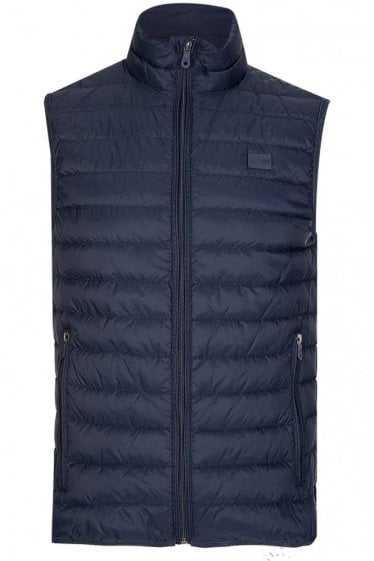 Armani Jeans Lightweight Down Gilet Blue