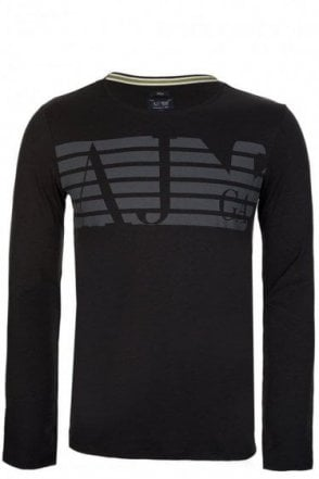 Armani Jeans Long Sleeved T-Shirt Black