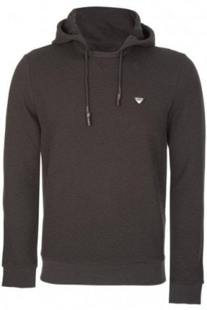 Armani Jeans Mesh Panel Pull Over Black